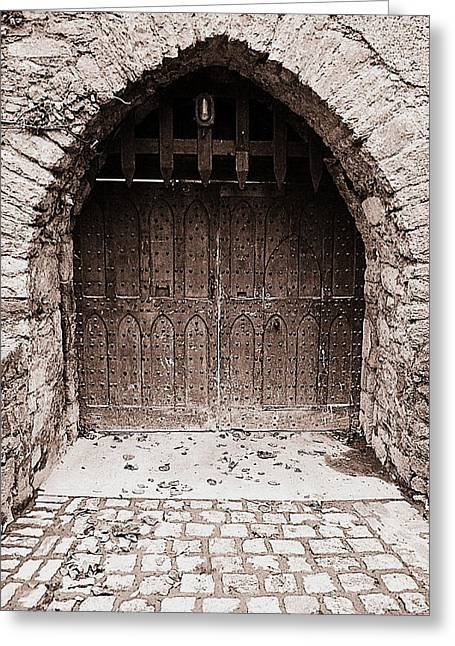 Dungeons Greeting Cards - Enter if you dare Greeting Card by Martina Fagan