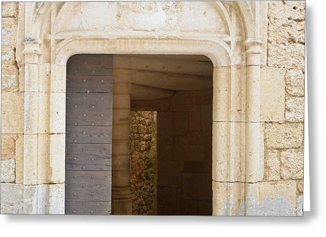 Enter the castle door Greeting Card by Nomad Art And  Design