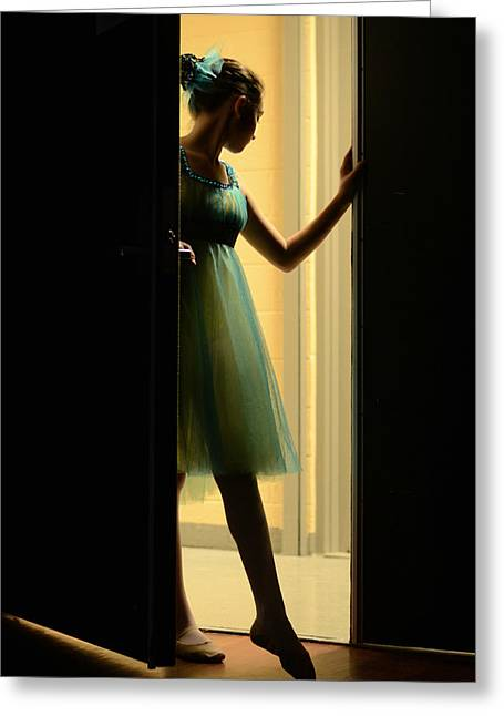 En Pointe Greeting Cards - Enter Upon This Stage Greeting Card by Laura  Fasulo