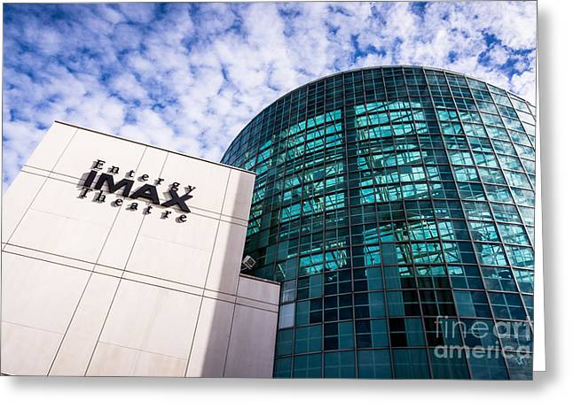 Movie Theater Greeting Cards - Entergy IMAX Theatre in New Orleans Greeting Card by Paul Velgos