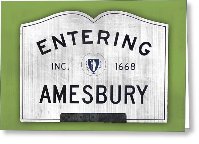 Amesbury Greeting Cards - Entering Amesbury Greeting Card by K Hines