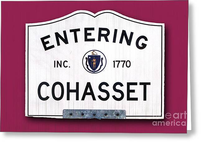 Cohasset Greeting Cards - Entering Cohasset Greeting Card by K Hines