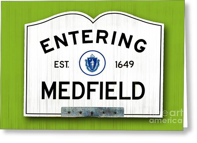 Entering Medfield Greeting Card by K Hines
