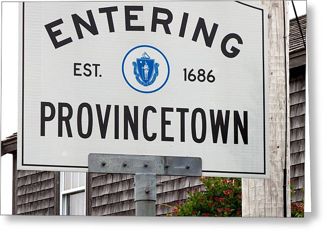 Dark Gray Blue Greeting Cards - Entering Provincetown Greeting Card by Michelle Wiarda