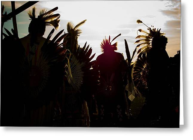 Powwow Greeting Cards - Entering The Circle Greeting Card by Jim Cortez