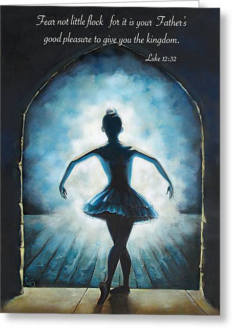 Ballet Dancers Drawings Greeting Cards - Entering the Glory Greeting Card by Tamer and Cindy Elsharouni