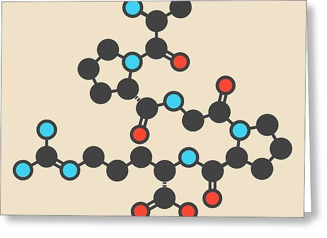 Enterostatin Signaling Peptide Molecule Greeting Card by Molekuul
