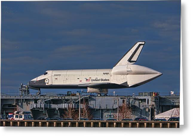 Enterprise at the Intrepid Greeting Card by S Paul Sahm