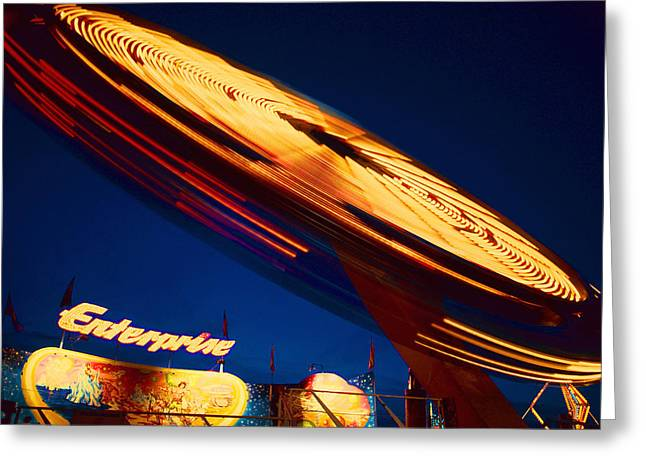 Amusement Ride Greeting Cards - Enterprise Greeting Card by Don Spenner