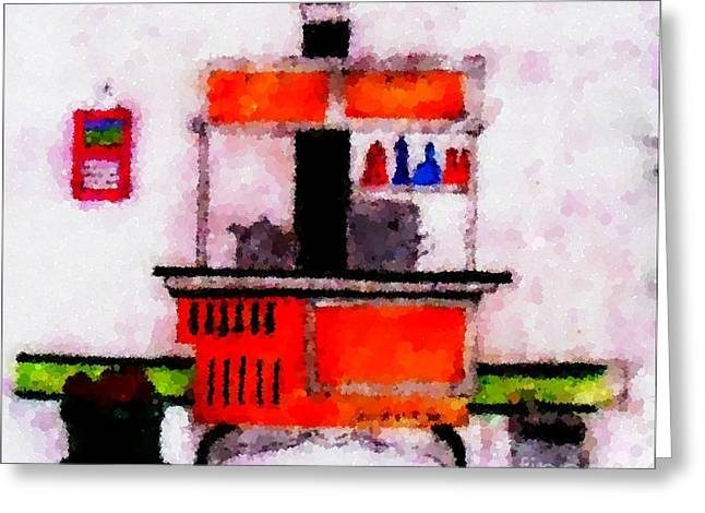Enterprise Woodstove Greeting Card by Barbara Griffin
