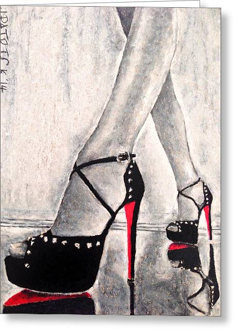 High Heeled Pastels Greeting Cards - Enticing Reflections Greeting Card by James Patrick