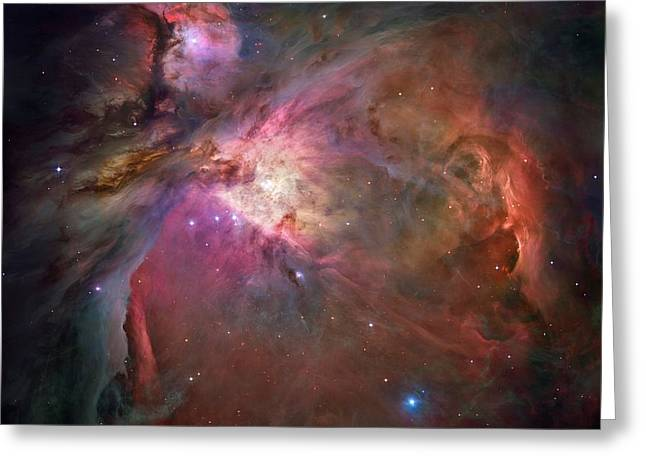 Orion Mixed Media Greeting Cards - Entire Orion Nebula Maximum Resolution Greeting Card by L Brown