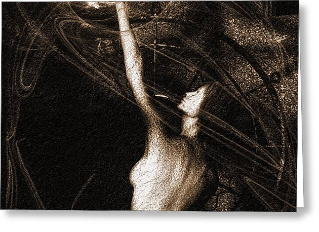Entities Touch Greeting Card by Bob Orsillo