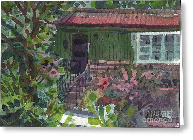 Home Front Greeting Cards - Entrance Greeting Card by Donald Maier