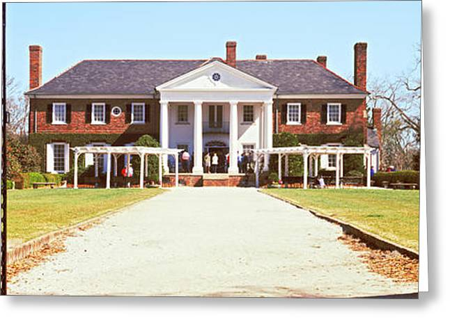 Hall Greeting Cards - Entrance Gate Of A House, Boone Hall Greeting Card by Panoramic Images