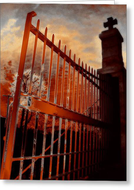 Entrance Greeting Card by Gothicolors Donna