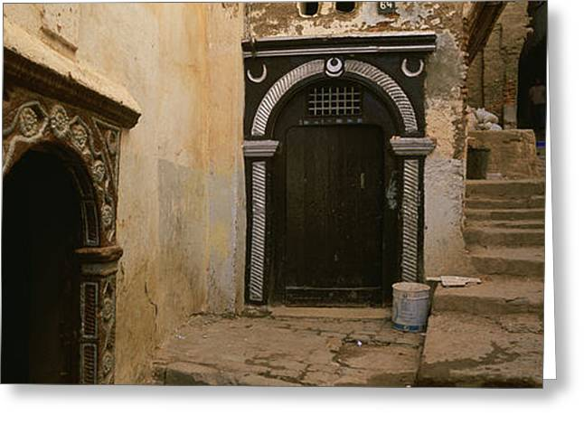 Entrance Door Greeting Cards - Entrance Of A Building, Casaba Greeting Card by Panoramic Images
