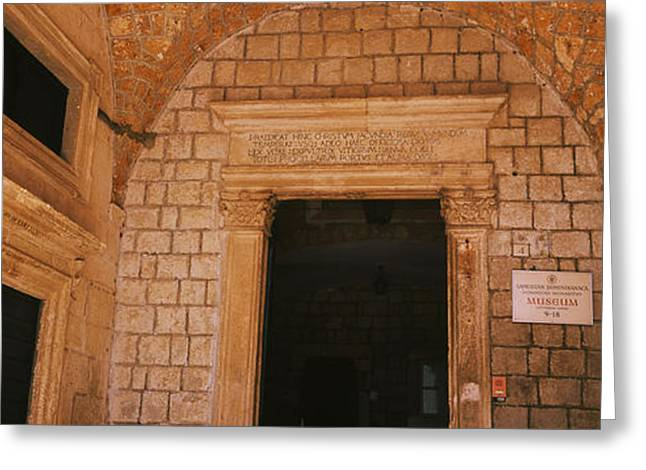 Dubrovnik Greeting Cards - Entrance Of A Monastery, Dominican Greeting Card by Panoramic Images