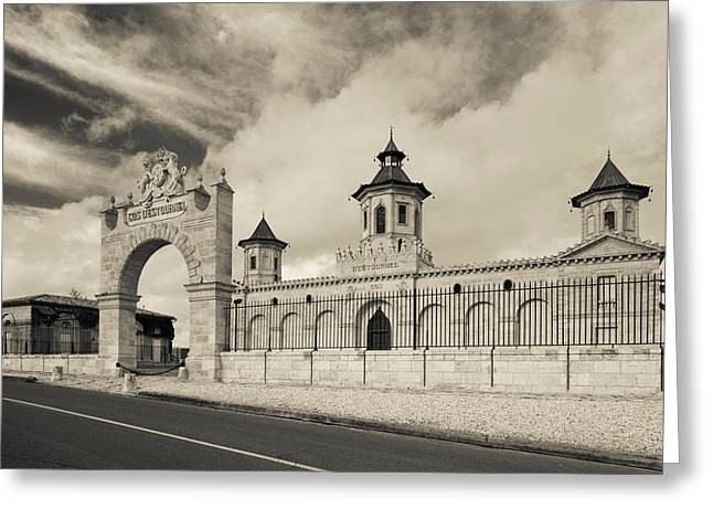Entrance Of A Winery, Chateau Cos Greeting Card by Panoramic Images