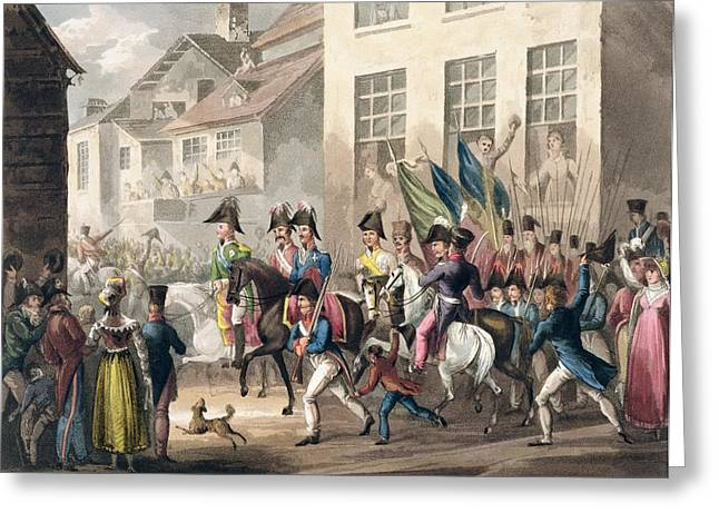 Parisian Greeting Cards - Entrance Of The Allies Into Paris Greeting Card by William Heath