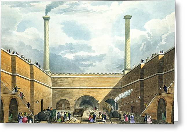 Chimney Greeting Cards - Entrance Of The Railway At Edge Hill Greeting Card by Thomas Talbot Bury