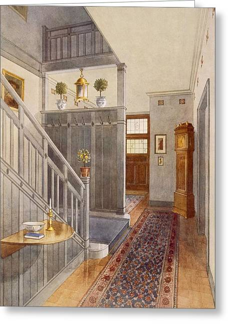 Entrance Door Greeting Cards - Entrance Passage Greeting Card by Richard Goulburn Lovell