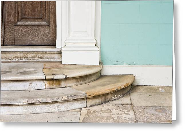 Posh Greeting Cards - Entrance steps Greeting Card by Tom Gowanlock