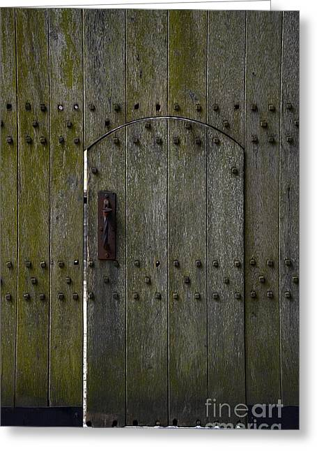 Old Lock Greeting Cards - Entrance to Castle Greeting Card by Svetlana Sewell