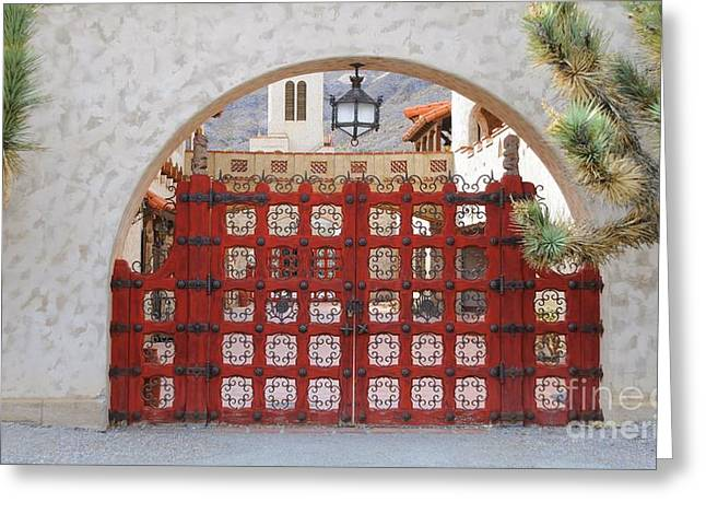 Scotty Art Greeting Cards - Entrance To Court Yard Greeting Card by Kathleen Struckle