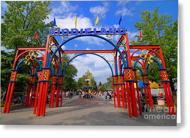 Kennywood Park Greeting Cards - Entrance to Kiddieland at Kennywood Amusement Park Greeting Card by Amy Cicconi