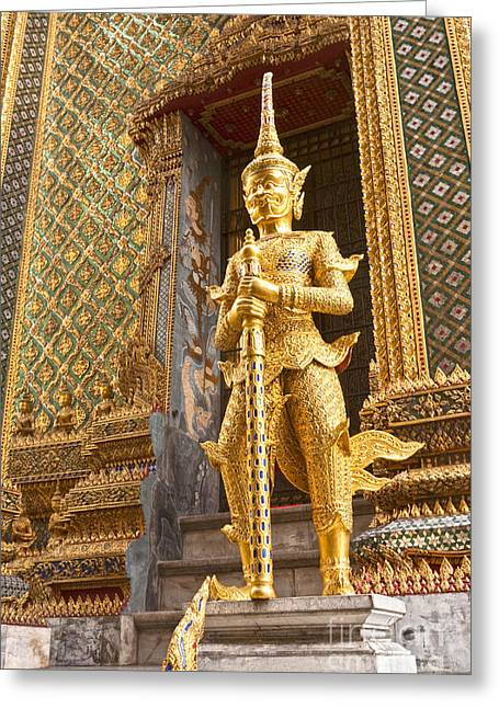 Bangkok Greeting Cards - Entrance to Phra Mondop Bangkok Greeting Card by Colin and Linda McKie