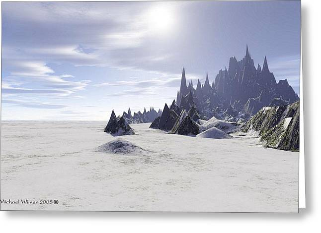 Terragen Digital Art Greeting Cards - Entrance to the Castle Greeting Card by Michael Wimer
