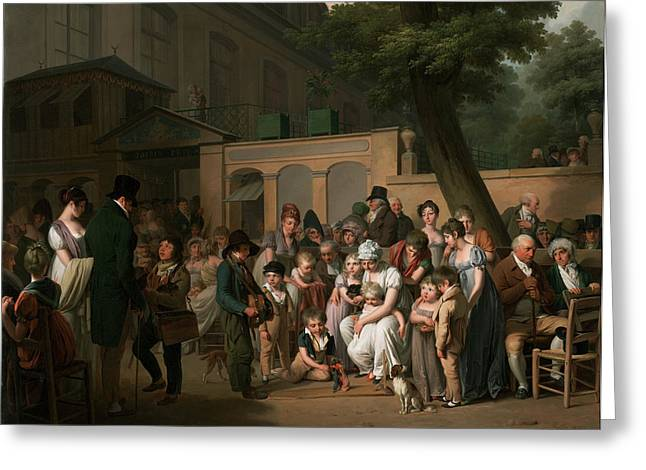 Boilly Greeting Cards - Entrance to the Jardin Turc Greeting Card by Louis Leopold Boilly