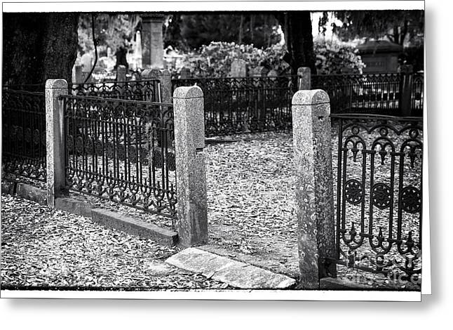 Grave Side Greeting Cards - Entrance to the Other Side Greeting Card by John Rizzuto