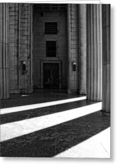 Nashville Tennessee Greeting Cards - Entrance To War Memorial In Nashville Greeting Card by Dan Sproul