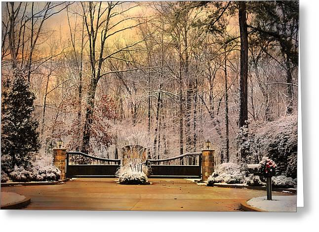 Entrance To Winter Greeting Card by Jai Johnson