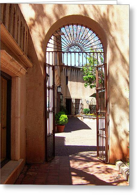 Sunlit Door Greeting Cards - Entrances Greeting Card by Ben and Raisa Gertsberg