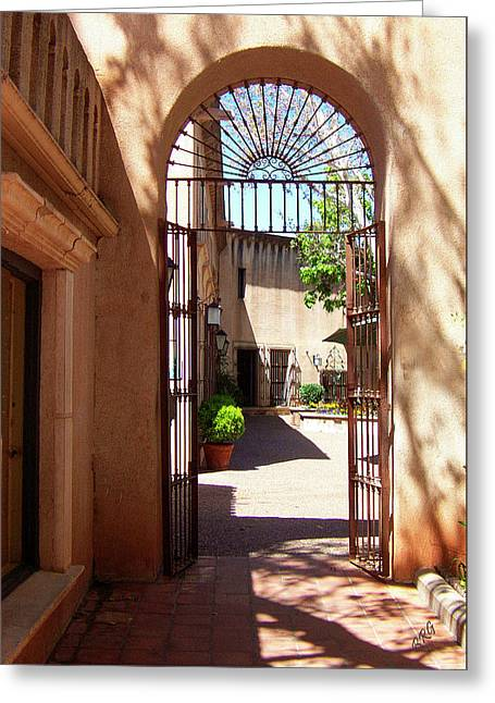 Entryway Greeting Cards - Entrances Greeting Card by Ben and Raisa Gertsberg
