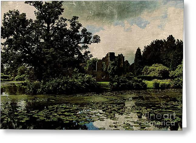 Medieval Entrance Digital Greeting Cards - Entrancing Castle Ruins Greeting Card by Callan Percy