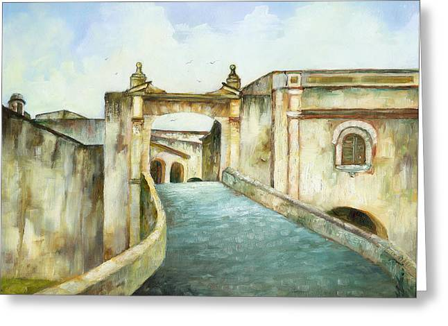 Entry To San Cristobal Greeting Card by Monica Linville