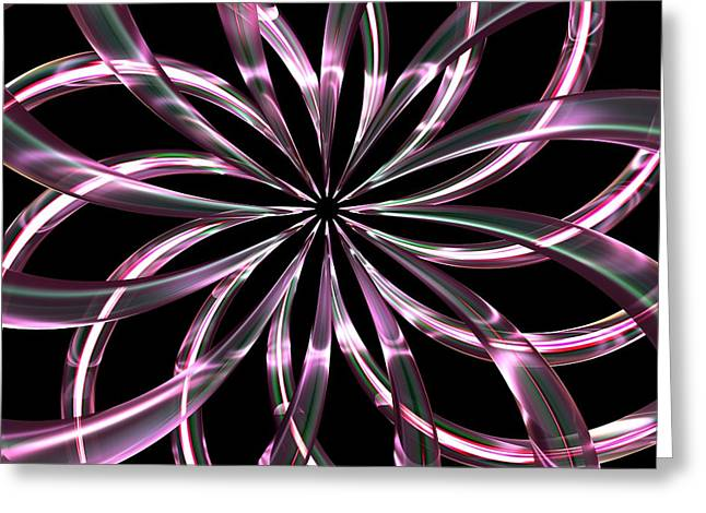 Digital_art Greeting Cards - Entwine Violot Greeting Card by Louis Ferreira