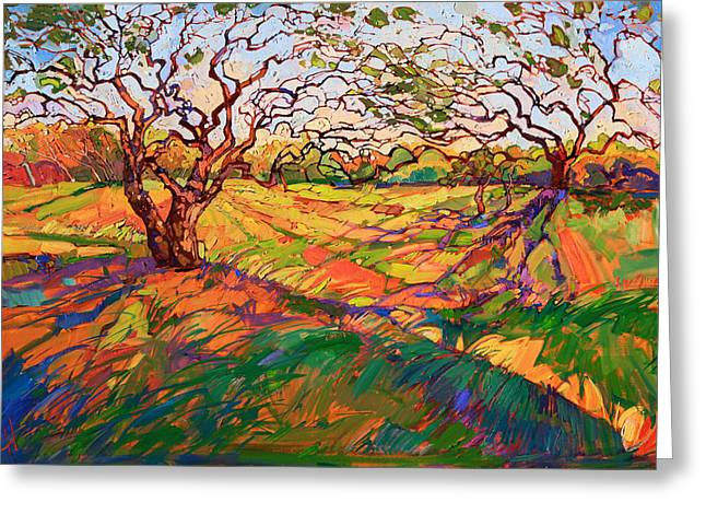 Texas Landscape Greeting Cards - Entwined Greeting Card by Erin Hanson