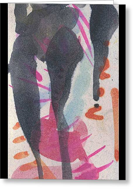 Entwined Figure Series No. 6  Your Back To The Drama Greeting Card by Cathy Peterson