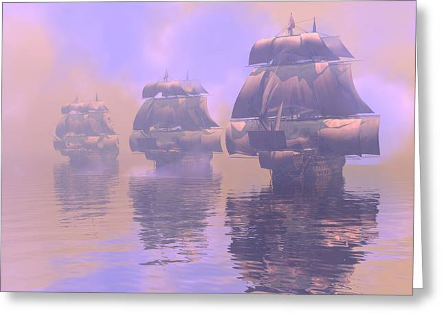 Enveloped By Fog Greeting Card by Claude McCoy