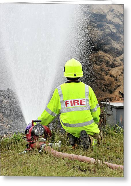 Environmental Fire Services Greeting Card by Public Health England