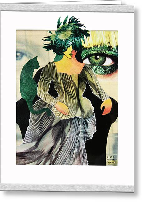 Carnegie Museum Of Art Greeting Cards - Envy Greeting Card by Eve Riser Roberts