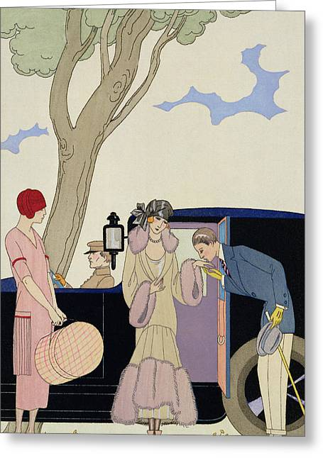 Pick-ups Greeting Cards - Envy Greeting Card by Georges Barbier