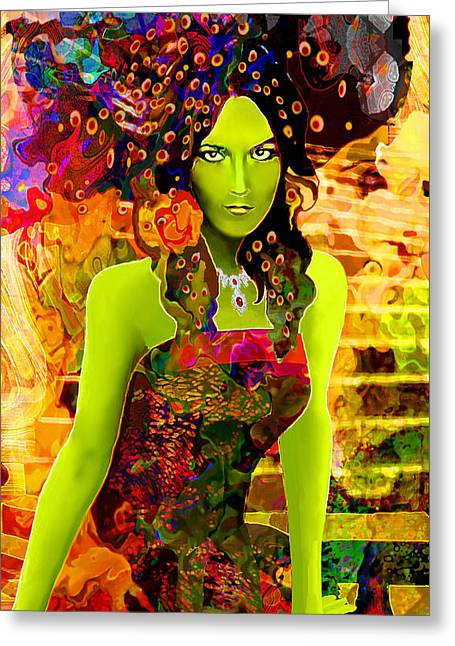 Damnation Greeting Cards - Envy Greeting Card by Jann Paxton