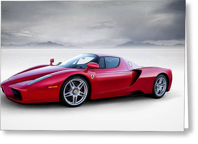 Sportscar Greeting Cards - Enzo Greeting Card by Douglas Pittman