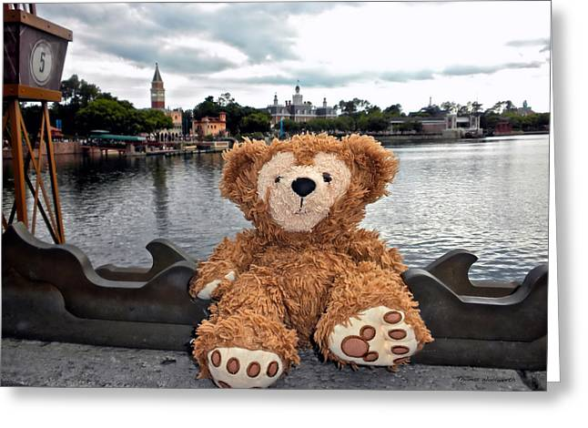 Magical Place Photographs Greeting Cards - Epcot Bear Greeting Card by Thomas Woolworth
